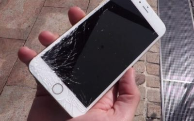Broken glass in iPhone 6?